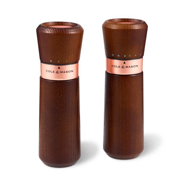 "COLE&MASON Комплект мелнички за сол и пипер ""LYNDHURST CHESTNUT ROSE GOLD"""