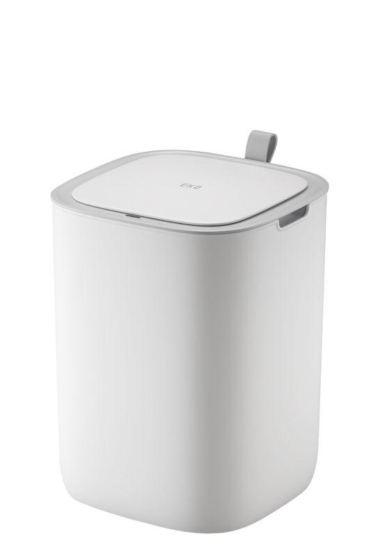 """EKO Сензорен кош за отпадъци """"MORANDI SMART"""" - 12 литра - бял"""