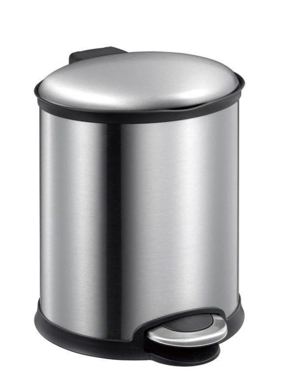 """EKO Кош за отпадъци с педал  """"ELLIPSE""""- 6 литра - мат"""