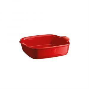 """EMILE HENRY Керамична тава """"SQUARE OVEN DISH""""- 22х22см - цвят червен"""