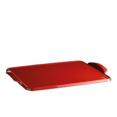 """EMILE HENRY Керамична плоча за печене """"BAKING TRAY"""" - 42 х 31 см - цвят червен"""
