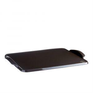 "EMILE HENRY Керамична плоча за печене ""BAKING TRAY"" - 42 х 31 см - цвят черен"