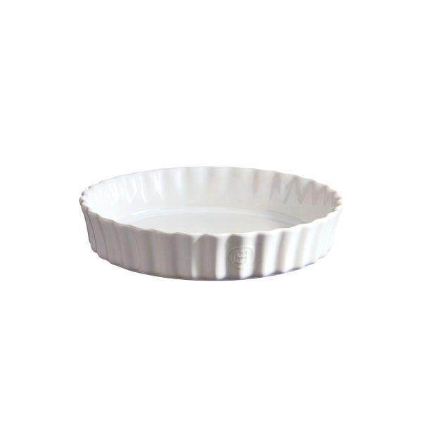 "EMILE HENRY Керамична форма за тарт ""DEEP FLAN DISH""- цвят бял"