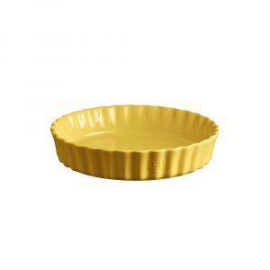 """EMILE HENRY Керамична форма за тарт """"DEEP FLAN DISH""""- цвят жълт"""