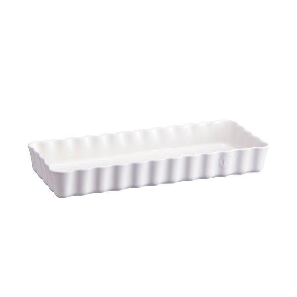 "EMILE HENRY Керамична форма за тарт ""SLIM RECTANGULAR TART DISH""- цвят бял"