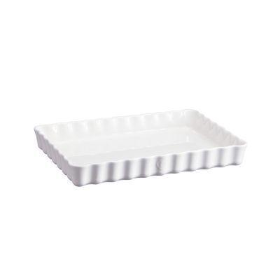 "EMILE HENRY Керамична форма за тарт ""DEEP RECTANGULAR TART DISH"" - цвят бял"
