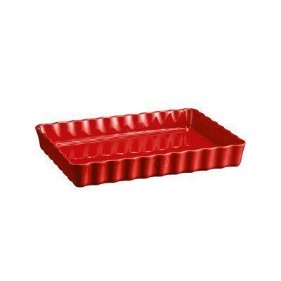 """EMILE HENRY Керамична форма за тарт """"DEEP RECTANGULAR TART DISH"""" - цвят червен"""