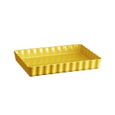 "EMILE HENRY Керамична форма за тарт ""DEEP RECTANGULAR TART DISH"" - цвят жълт"