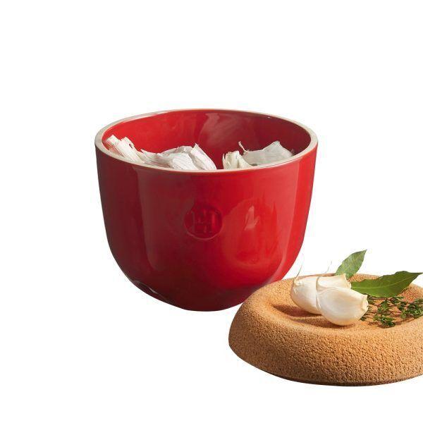 eh 8763 348763 potail garlicpot open a Марка: Emile Henry <br />Модел: EH 8763-95<br />Доставка: 2-4 работни дни<br />Гаранция: 2 години