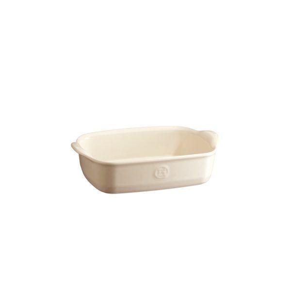 """EMILE HENRY Керамична тава """"INDIVIDUAL OVEN DISH""""- 22х15см - цвят екрю"""