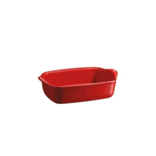 """EMILE HENRY Керамична тава """"INDIVIDUAL OVEN DISH""""- 22х15см - цвят червен"""