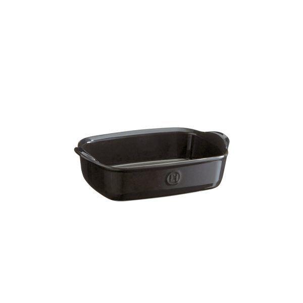 """EMILE HENRY Керамична тава """"INDIVIDUAL OVEN DISH""""- 22х15см - цвят черен"""