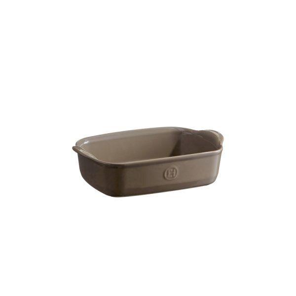 """EMILE HENRY Керамична тава """"INDIVIDUAL OVEN DISH""""- 22х15см - цвят сиво-бежов"""