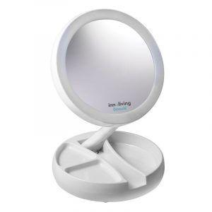 INNOLIVING Увеличително козметично огледало с LED светлина INN - 805