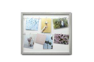 """UMBRA Колаж за снимки """"CLOTHESLINE"""" - цвят сив"""