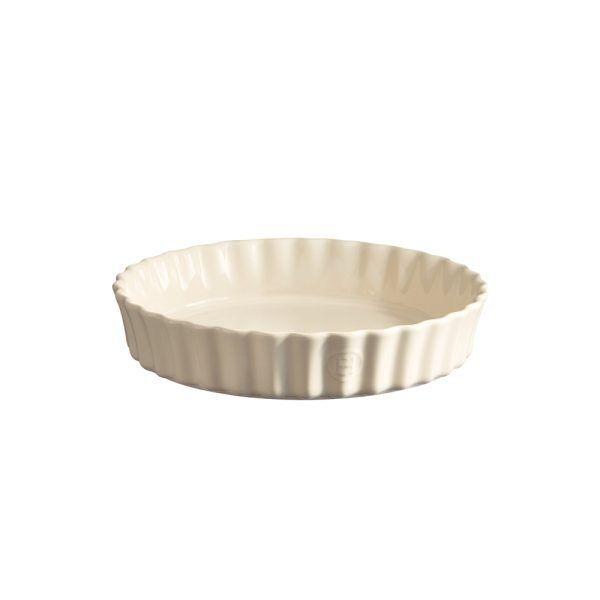 "EMILE HENRY Керамична форма за тарт ""DEEP FLAN DISH""- цвят екрю"