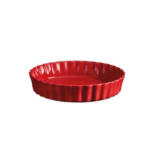 """EMILE HENRY Керамична форма за тарт """"DEEP FLAN DISH""""- цвят червен"""