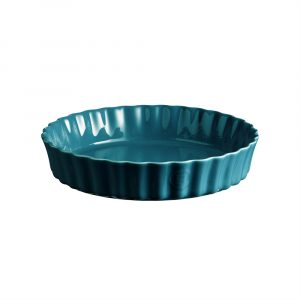 """EMILE HENRY Керамична форма за тарт """"DEEP FLAN DISH""""- цвят син"""
