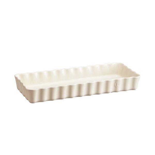 "EMILE HENRY Керамична форма за тарт ""SLIM RECTANGULAR TART DISH""- цвят екрю"