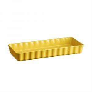"EMILE HENRY Керамична форма за тарт ""SLIM RECTANGULAR TART DISH""- цвят жълт"