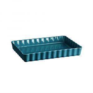 """EMILE HENRY Керамична форма за тарт """"DEEP RECTANGULAR TART DISH"""" - цвят син"""