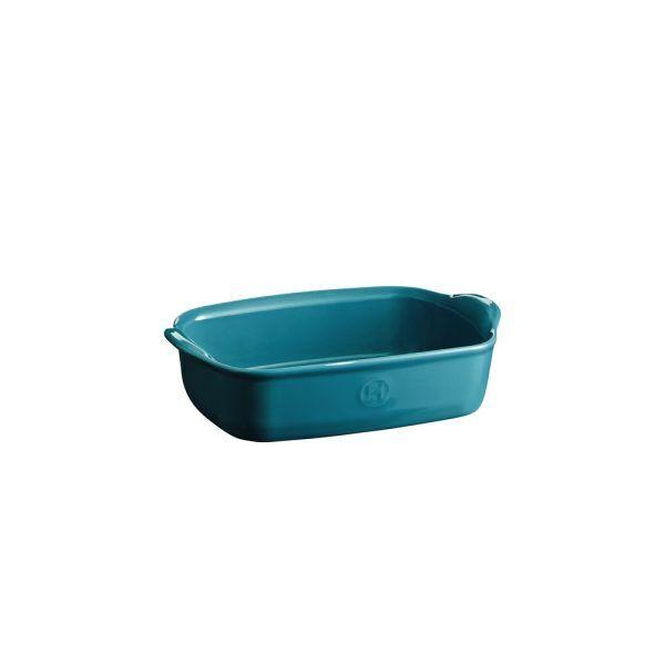 """EMILE HENRY Керамична тава """"INDIVIDUAL OVEN DISH""""- 22х15см - цвят синьо-зелен"""