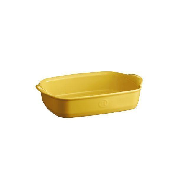 """EMILE HENRY Керамична тава """" SMALL RECTANGULAR OVEN DISH""""- 30х19 см - цвят жълт"""