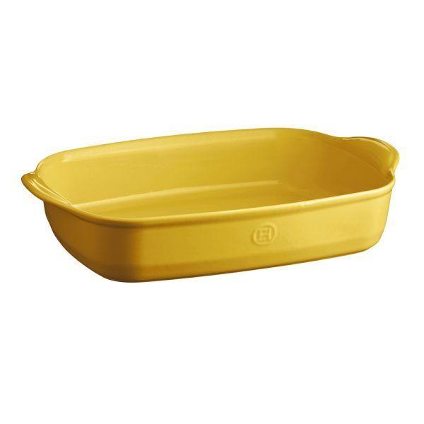"EMILE HENRY Керамична тава ""LARGE RECTANGULAR OVEN DISH"" - 42х28 см - цвят жълт"