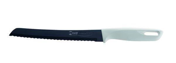 "IVO Cutelarias Нож за хляб ""TITANIUM EVO"" - 20 см - бяла дръжка"