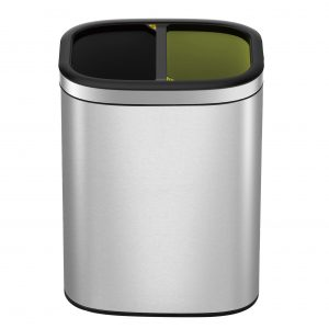 """EKO Отворен кош за разделно събиране """"OLI - CUBE"""" - - 2 х 10 литра"""