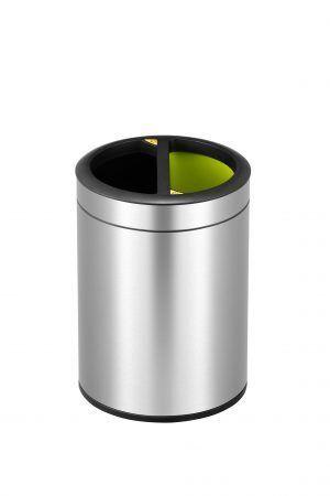 EKO Отворен кош за разделно събиране ROUND  - 2 х 5 литра