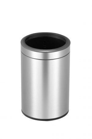 """EKO Отворен кош за отпадъци """"ROUND"""" - 12 литра - мат"""