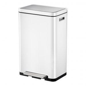 """EKO Кош за отпадъци с педал """"X-CUBE""""- 45 литра - бял"""