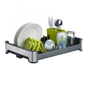 EKO Сушилник за съдове и прибори - цвят сив / зелен