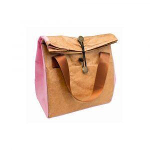 Nerthus Термоизолираща чанта за храна - цвят розов