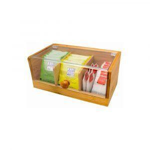 Nerthus Бамбукова кутия за съхранение на чай - малка