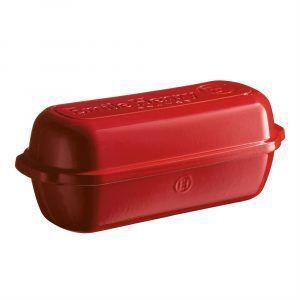 """EMILE HENRY Керамична форма за печене на хляб """"LARGE BREAD LOAF BAKER"""" - цвят червен"""