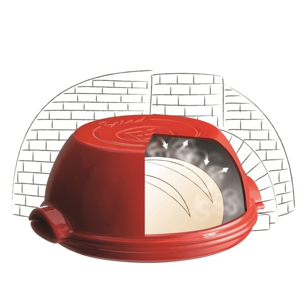 eh 5507 illustration setpainmaison roundbreadbaker brickoven a 1 Марка: Emile Henry <br />Модел: EH 5507-79<br />Доставка: 2-4 работни дни<br />Гаранция: 2 години