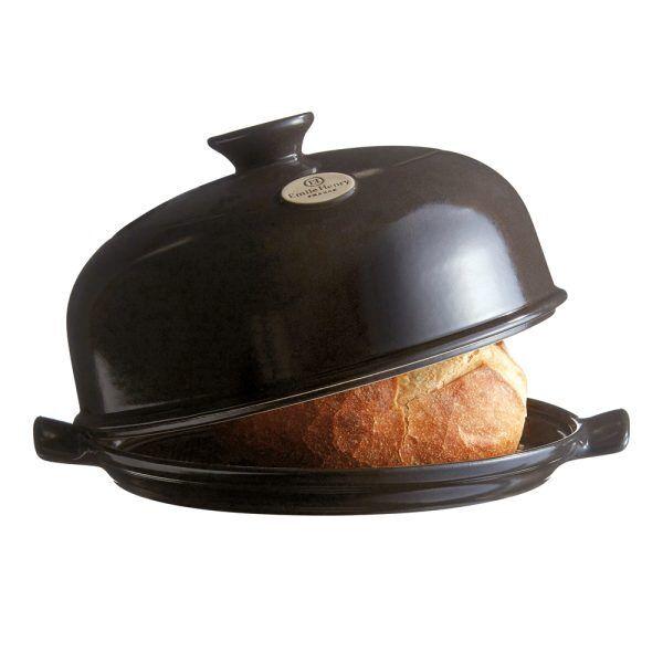 """EMILE HENRY Керамична форма за печене на хляб """"BAKER CLOCHE"""" - цвят черен"""