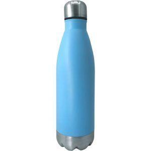 Nerthus Туристическа бутилка цвят син/инокс - 750 мл.
