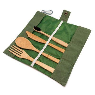 Nerthus Бамбуков комплект прибори за храна