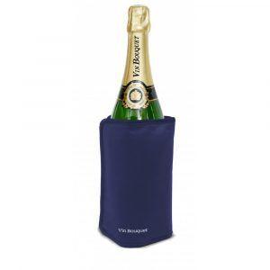 Vin Bouquet Охладител за бутилки с гел - син