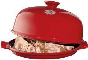 """EMILE HENRY Керамична форма за печене на хляб """"BAKER CLOCHE"""" - цвят червен"""