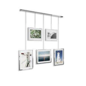 """UMBRA Фотодисплей за монтаж на стена """"EXHIBIT"""" - цвят хром"""