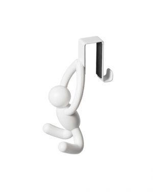 """UMBRA Комплект от 2 бр  единични закачалки за врата """"BUDDY"""" - цвят бял"""