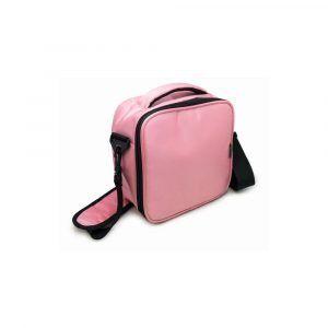 Nerthus Термоизолираща чанта за храна с два джоба - розов цвят