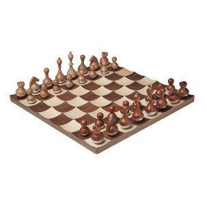 """UMBRA Луксозен шах """"WOBBLE"""" - цвят орех/клен"""