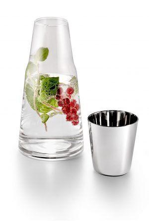 "PHILIPPI Стъклена гарафа / кана с чаша ""H2O"""