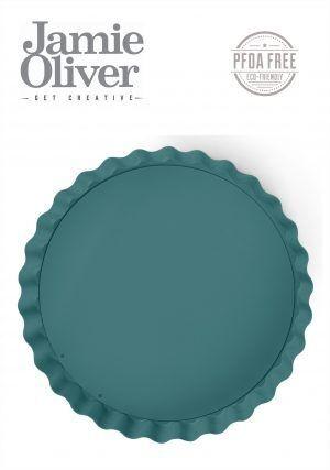 JAMIE OLIVER Вълнообразна форма с падащо дъно - Ø 25 см - цвят атлантическо зелено