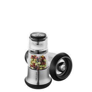 GEFU Мелничка за пипер със солница X-PLOSION® - 2в1 - цвят инокс